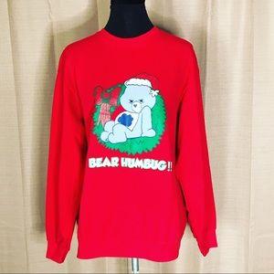 VTG CARE BEAR CHRISTMAS HOLIDAY SWEATSHIRT #10